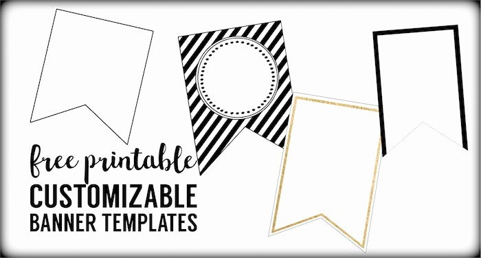 Free Printable Birthday Banner Templates Best Of Free Printable Banner Templates Blank Banners Paper