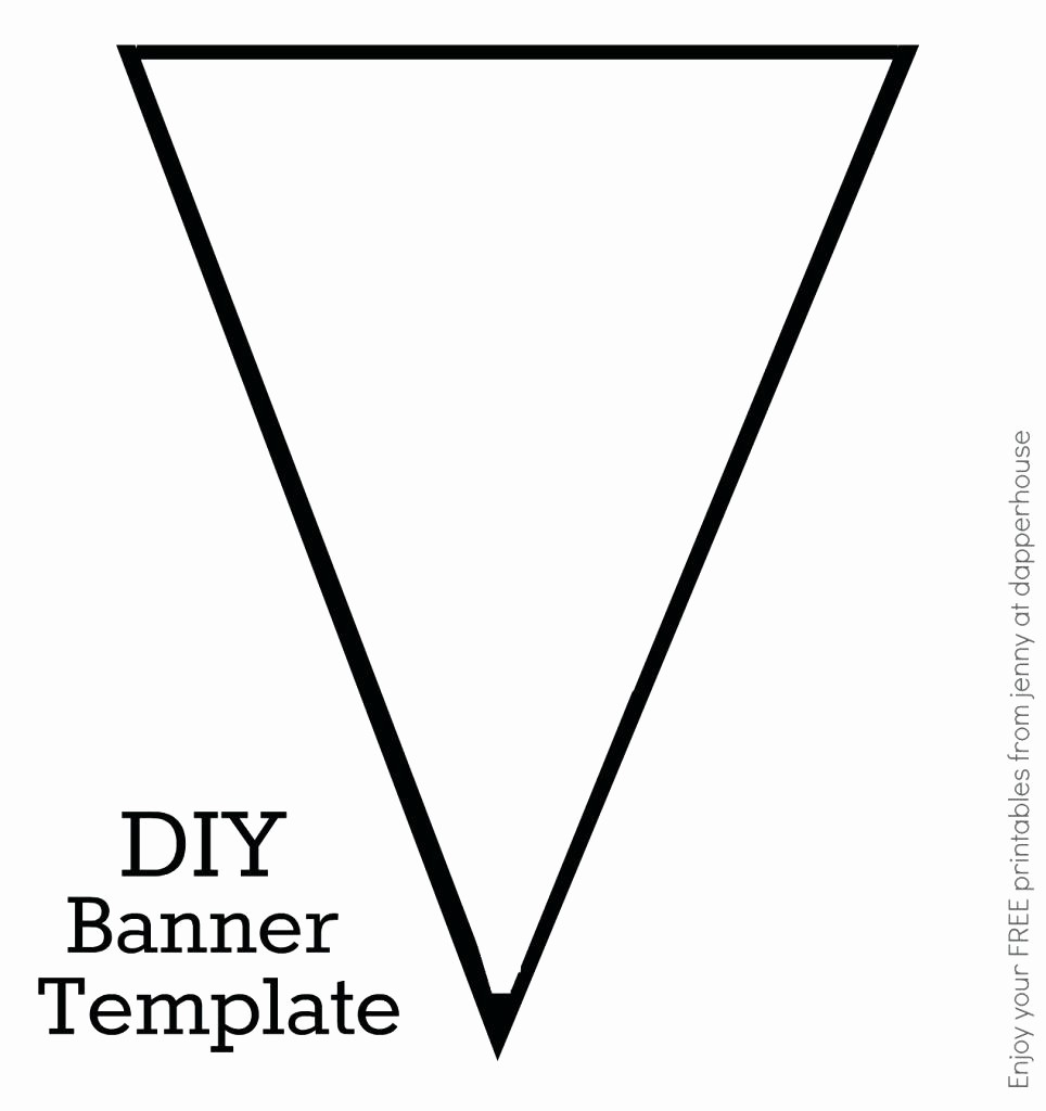 Free Printable Birthday Banner Templates Best Of Triangle Template for Bunting