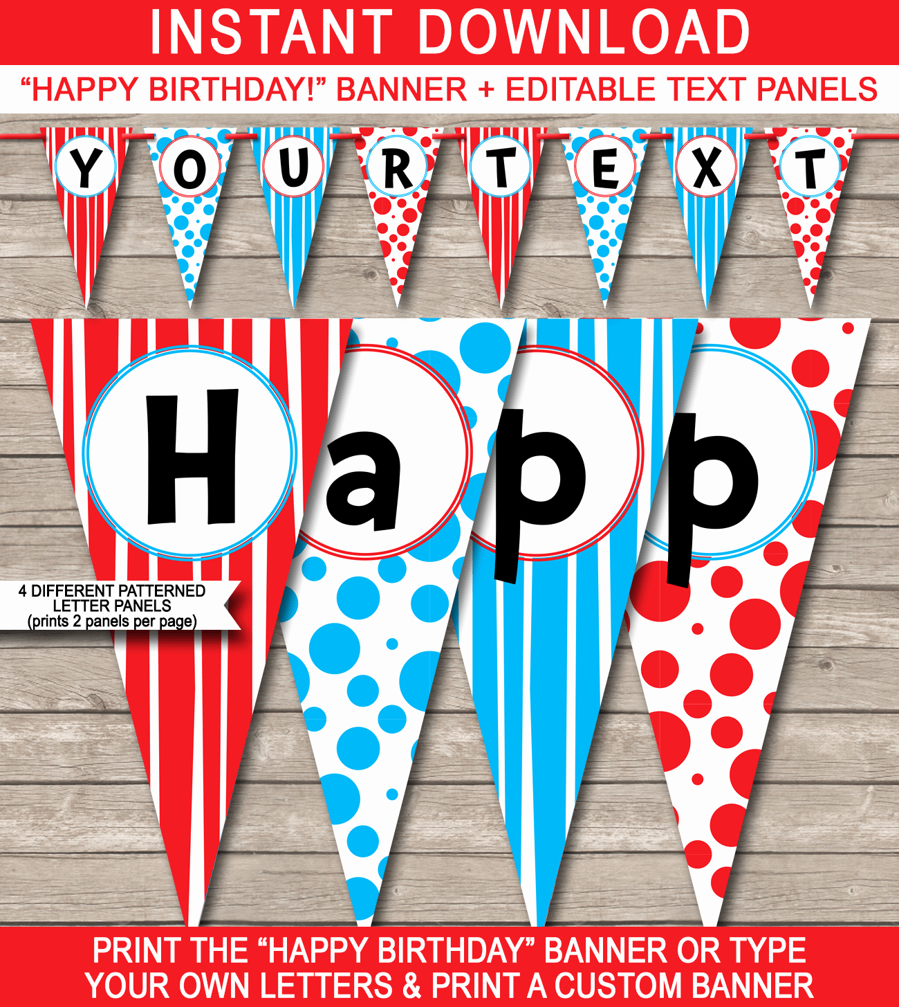 Free Printable Birthday Banner Templates Unique Dr Seuss Party Banner Template