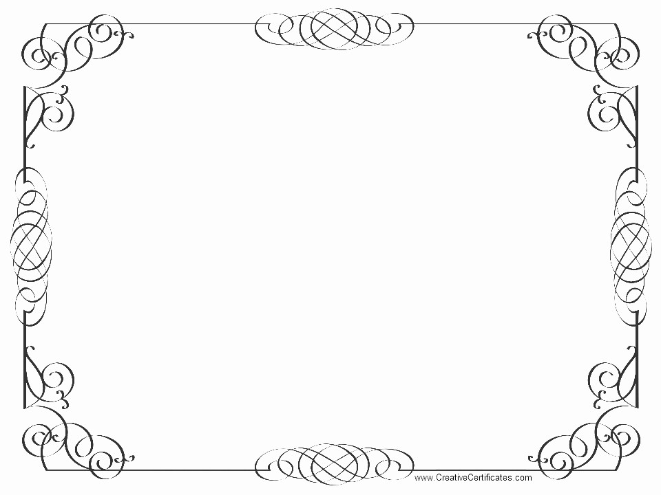 Free Printable Blank Certificate Borders Awesome 8 Best Of Certificate Border Templates Gold