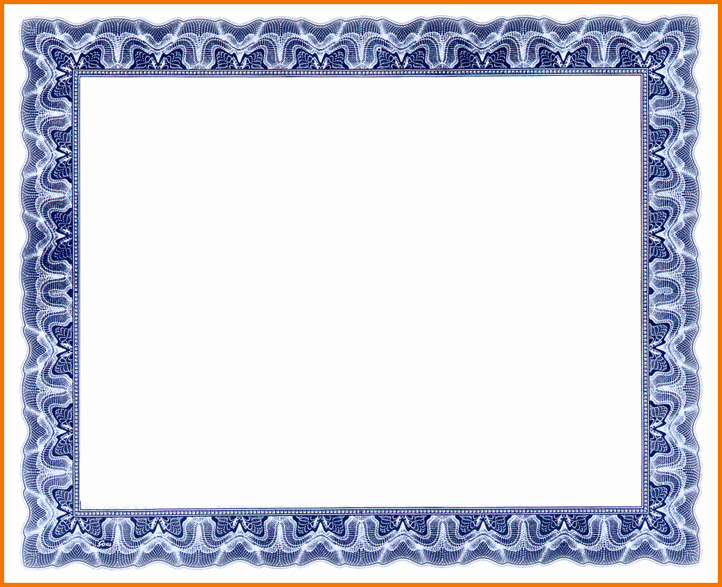 Free Printable Blank Certificate Borders Awesome Pdf Blank Award Certificate Template Border