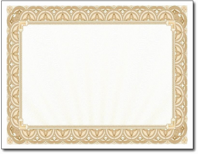 Free Printable Blank Certificate Borders Beautiful Gold Border Certificates