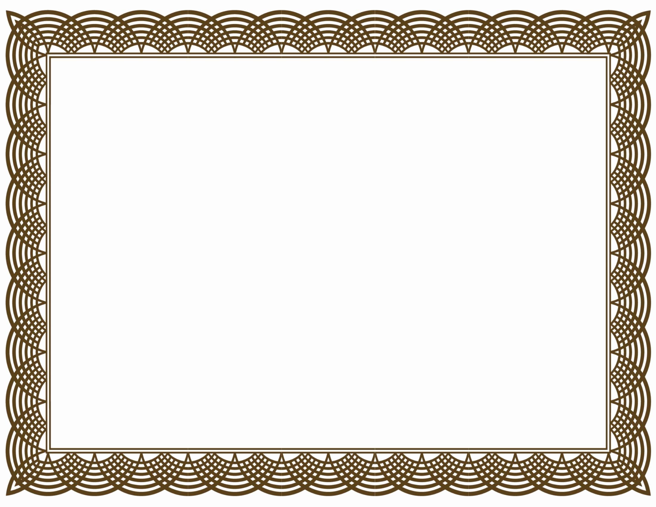 Free Printable Blank Certificate Borders Elegant 5 New Certificate Border Templates