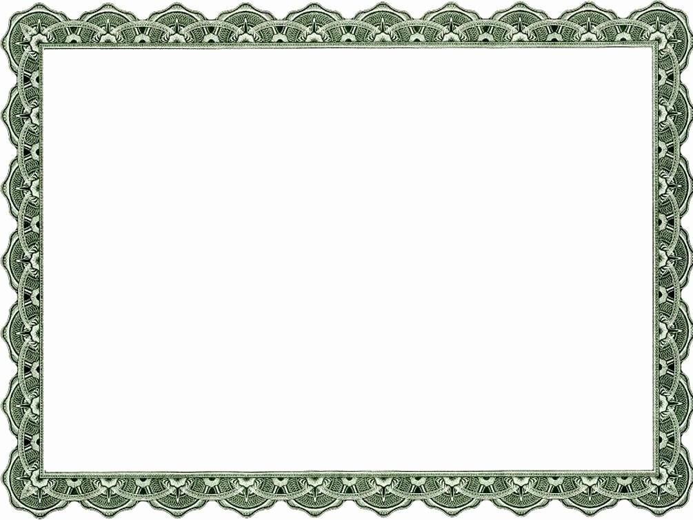 Free Printable Blank Certificate Borders Elegant Blank Certificate Border Template