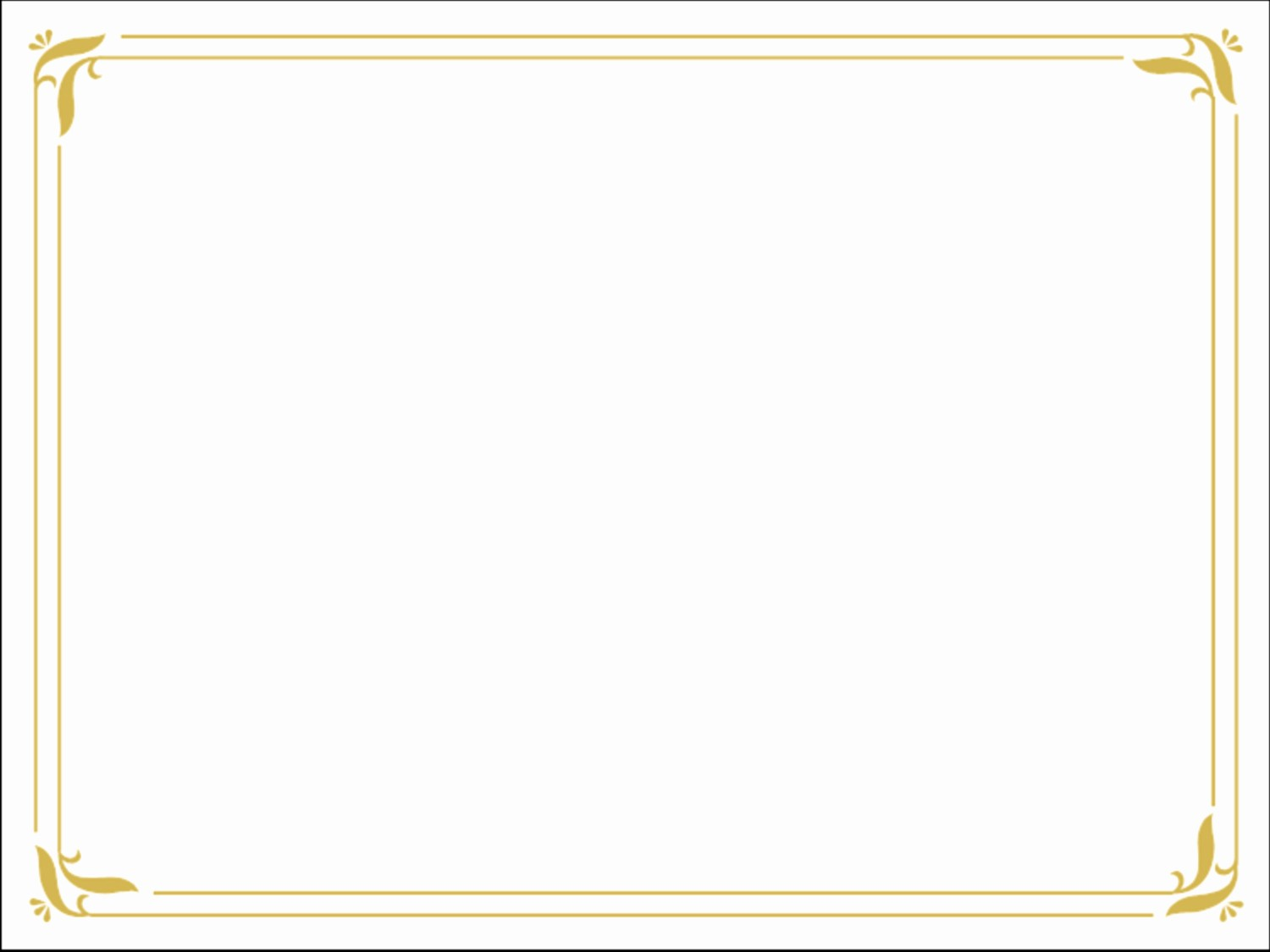 Free Printable Blank Certificate Borders Fresh Golden Border Certificate Templates