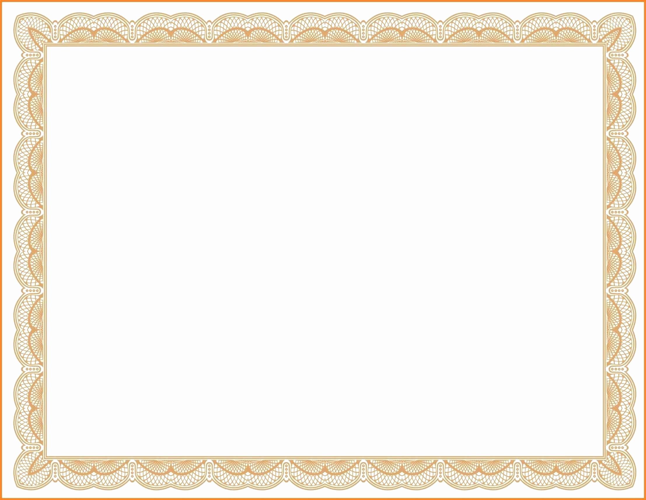 Free Printable Blank Certificate Borders Fresh Template Border Certificate Template