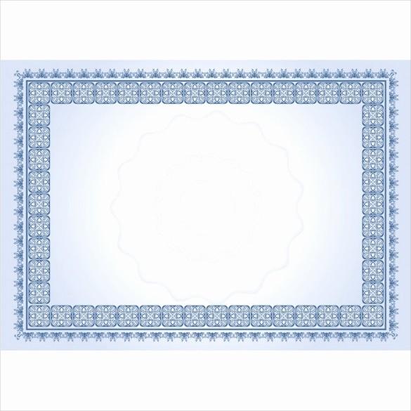 Free Printable Blank Certificate Borders Luxury 36 Blank Certificate Template Free Psd Vector Eps Ai