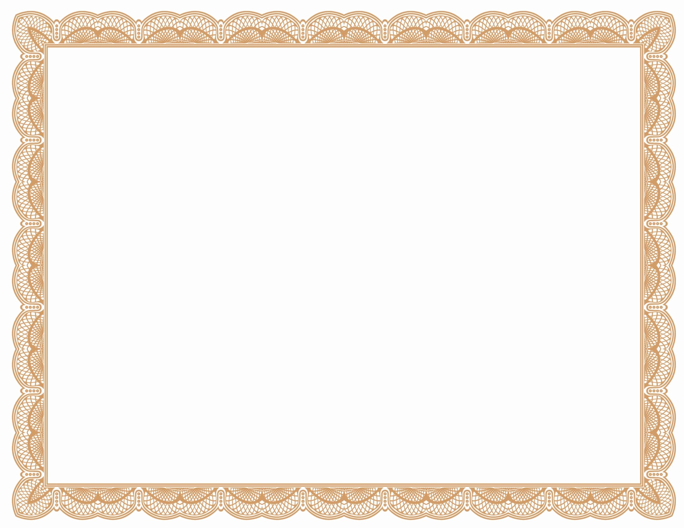 Free Printable Blank Certificate Borders Unique 5 New Certificate Border Templates