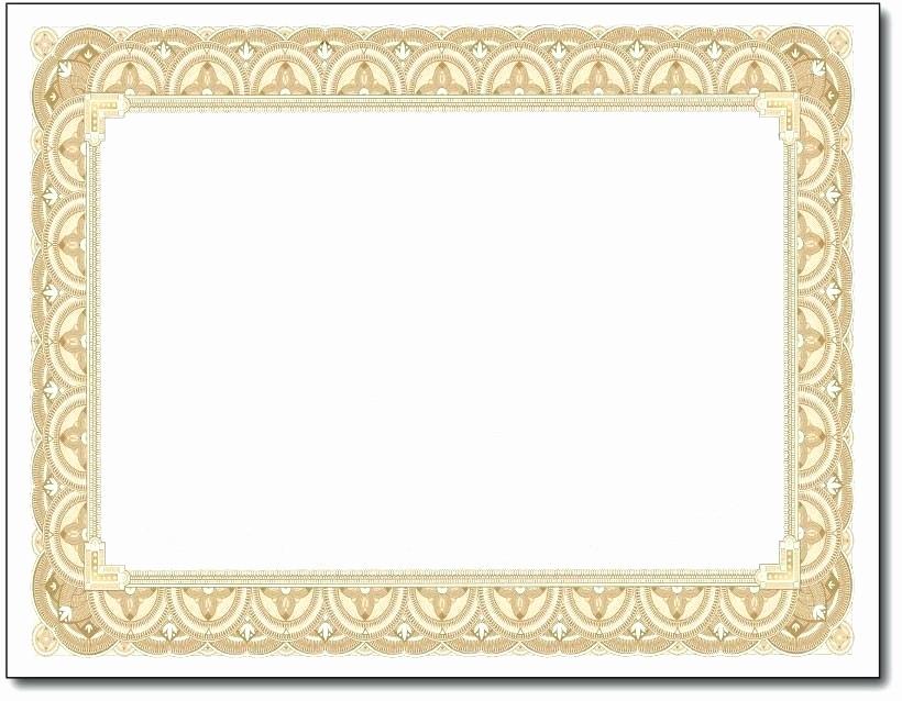 Free Printable Blank Certificate Borders Unique Printable Blank Certificate Borders Gold Border