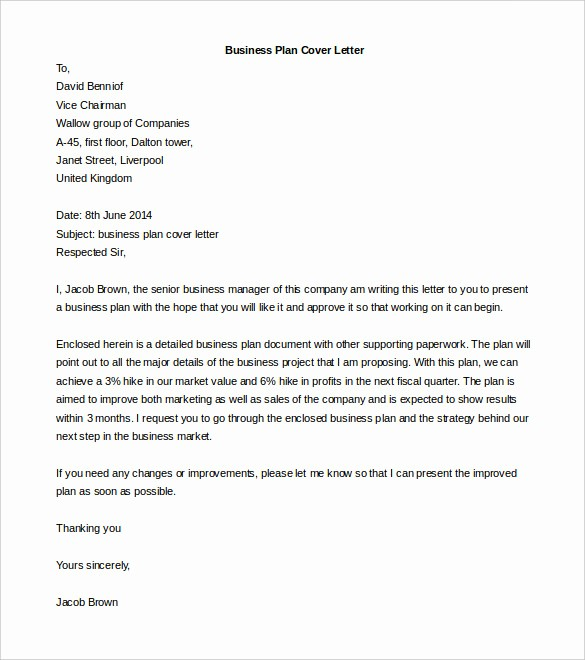 Free Printable Business Plan Template Awesome 50 Business Letter Templates Pdf Doc