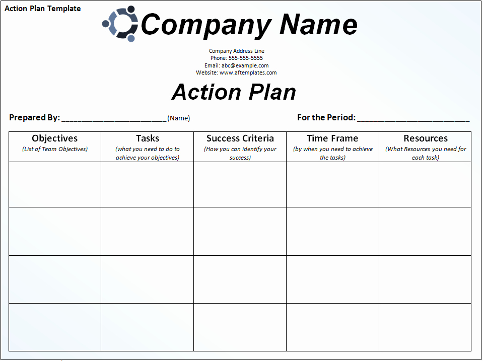 Free Printable Business Plan Template Awesome Action Plan Template