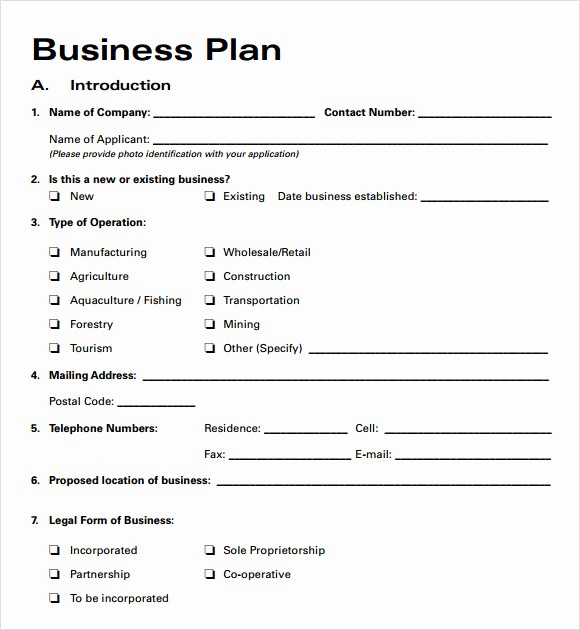 Free Printable Business Plan Template Awesome Business Plan Templates 6 Download Free Documents In