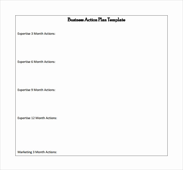 Free Printable Business Plan Template Beautiful Business Action Plan Template 5 Download Free Documents