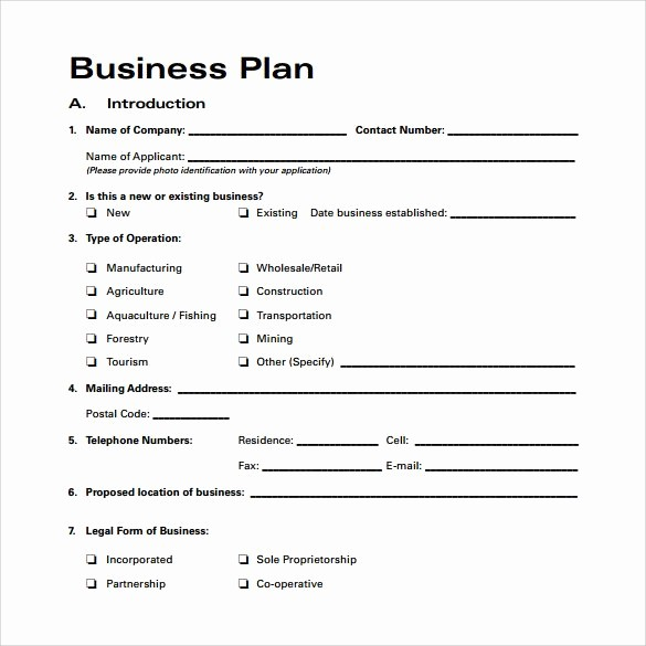 Free Printable Business Plan Template Best Of Business Plan Template Free Download