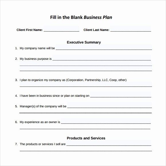Free Printable Business Plan Template Fresh 16 Sample Small Business Plans