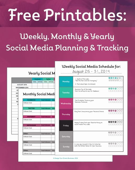 Free Printable Business Plan Template Inspirational 17 Best Ideas About social Media Calendar On Pinterest