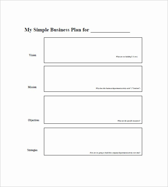 Free Printable Business Plan Template Luxury Simple Business Plan Template – 20 Free Sample Example