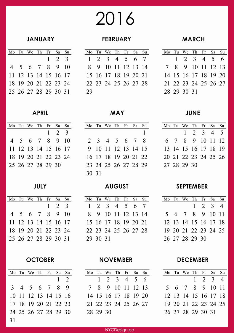 Free Printable Calendar 2016 Template Inspirational April 2016 Calendar Template – 2017 Printable Calendar