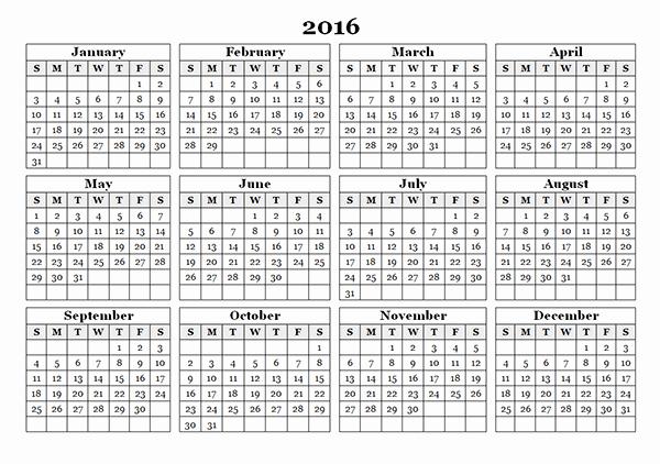 Free Printable Calendar 2016 Template Unique Free Printable 11 X 17 Monthly Calendar