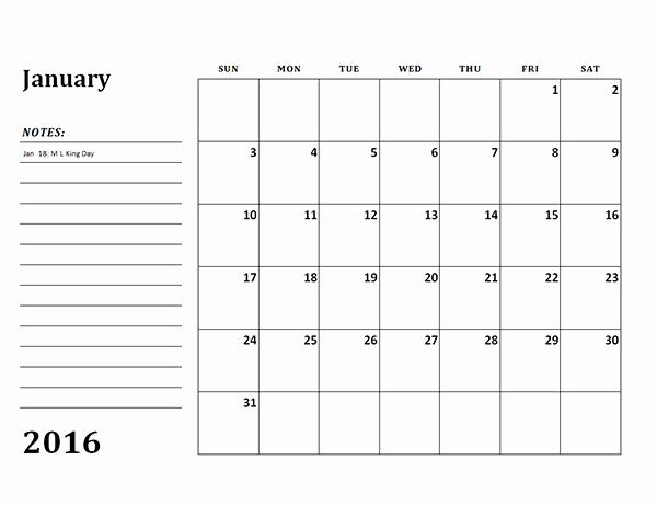 Free Printable Calendar 2016 Templates Fresh 2016 Monthly Calendar Template 03 Free Printable Templates