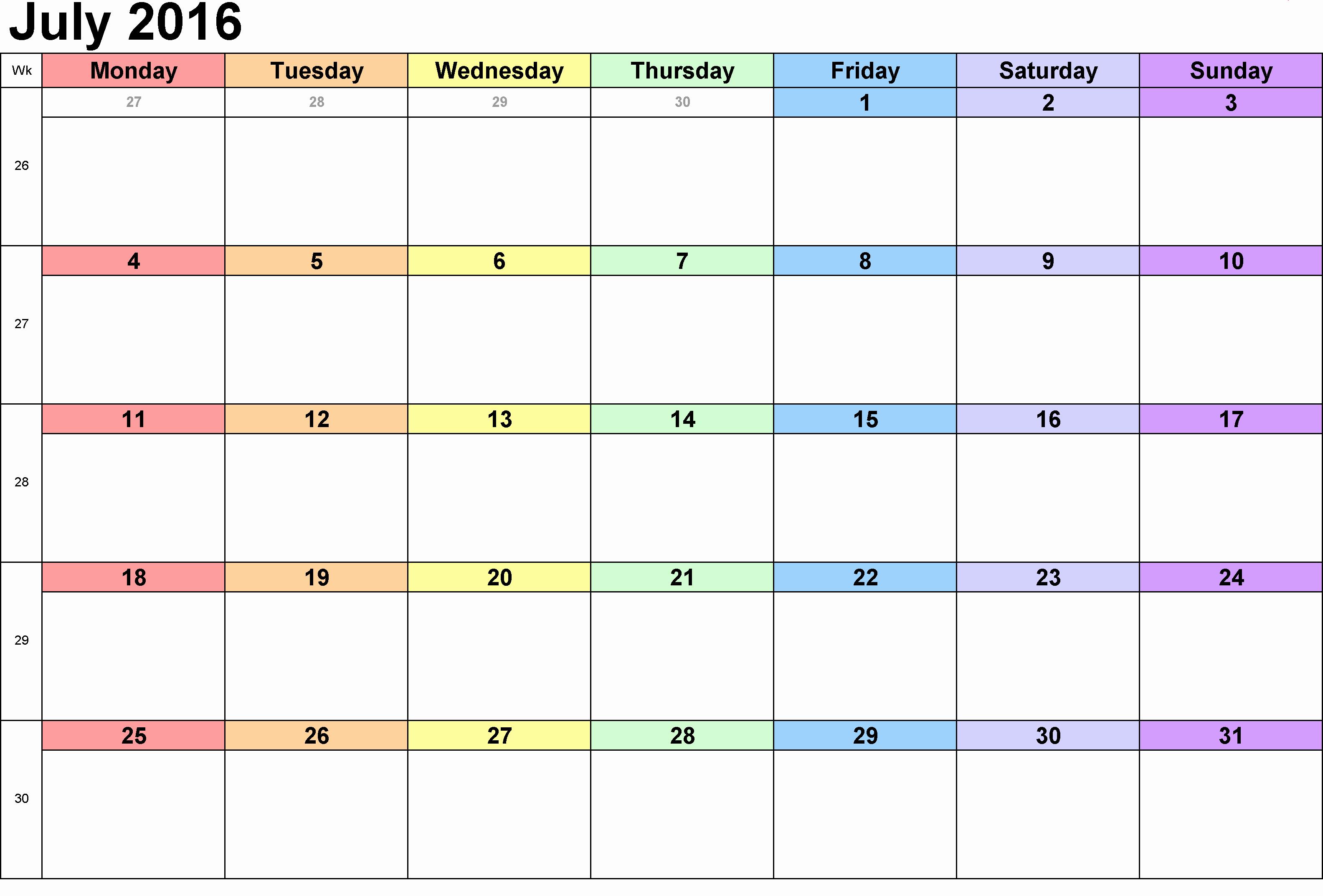 Free Printable Calendar 2016 Templates Lovely [free] Printable Calendar Templates 2016 Part 2