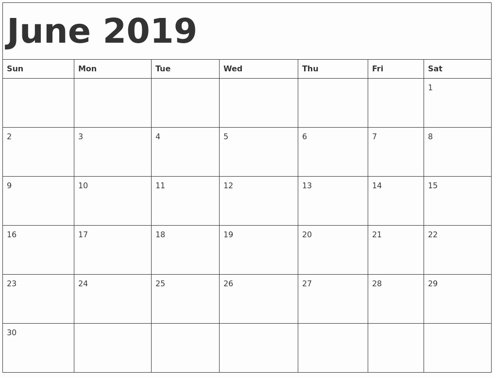 Free Printable Calendar Templates 2019 Beautiful June 2019 Printable Calendar Templates Free Pdf Holidays