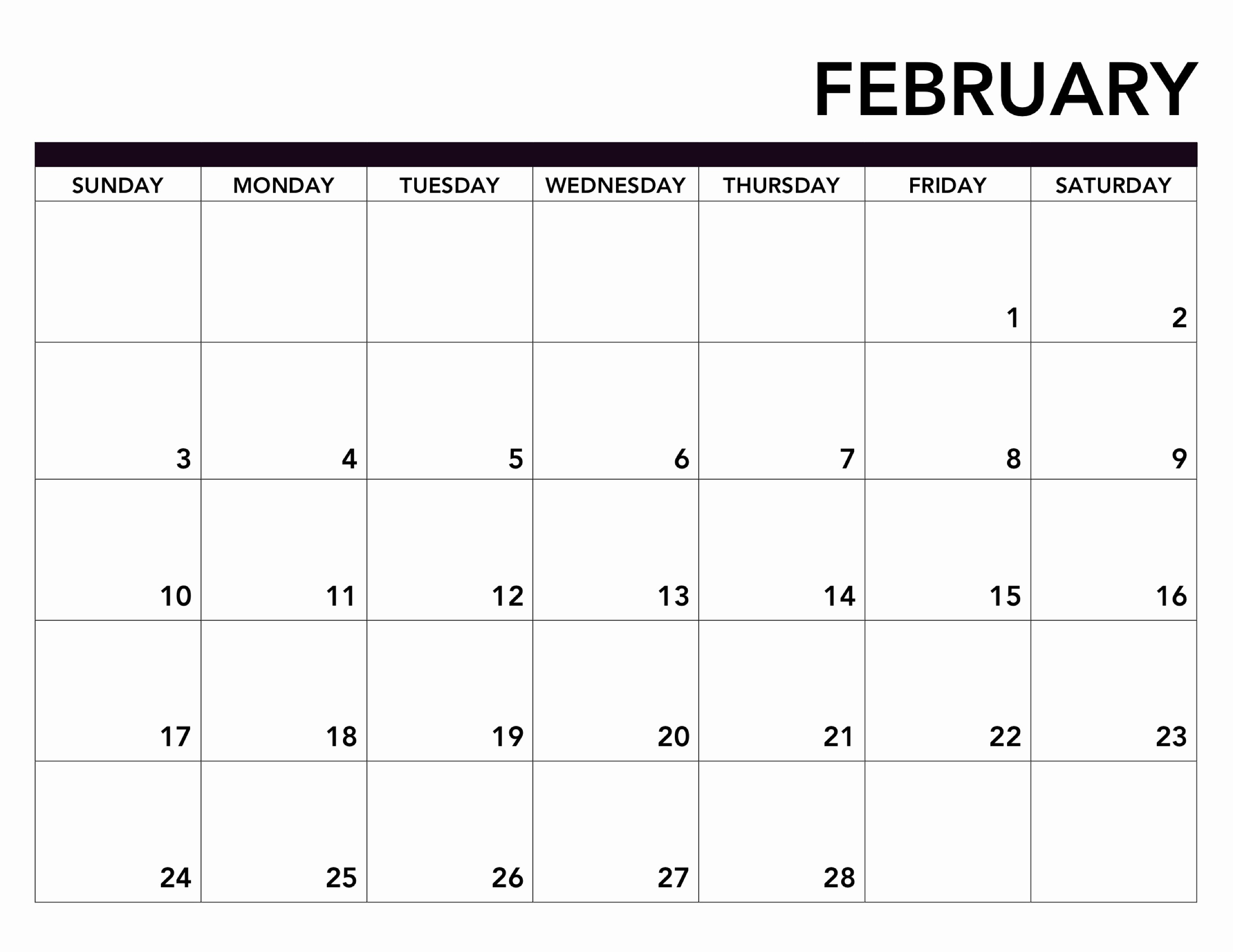 Free Printable Calendar Templates 2019 Lovely 51 Free February 2019 Printable Calendar Templates Pdf