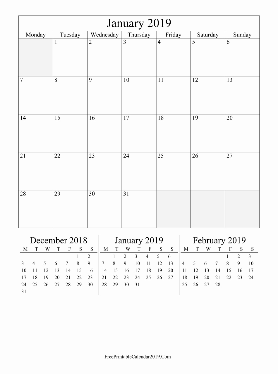 Free Printable Calendar Templates 2019 New Free Printable Calendar 2019 with Holidays In Word Excel Pdf