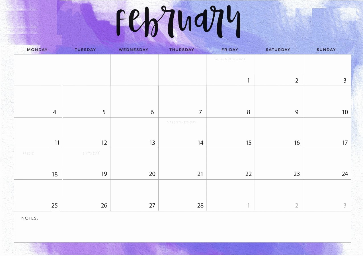 Free Printable Calendar Templates 2019 Unique Free February 2019 Printable Calendar Templates Calendar