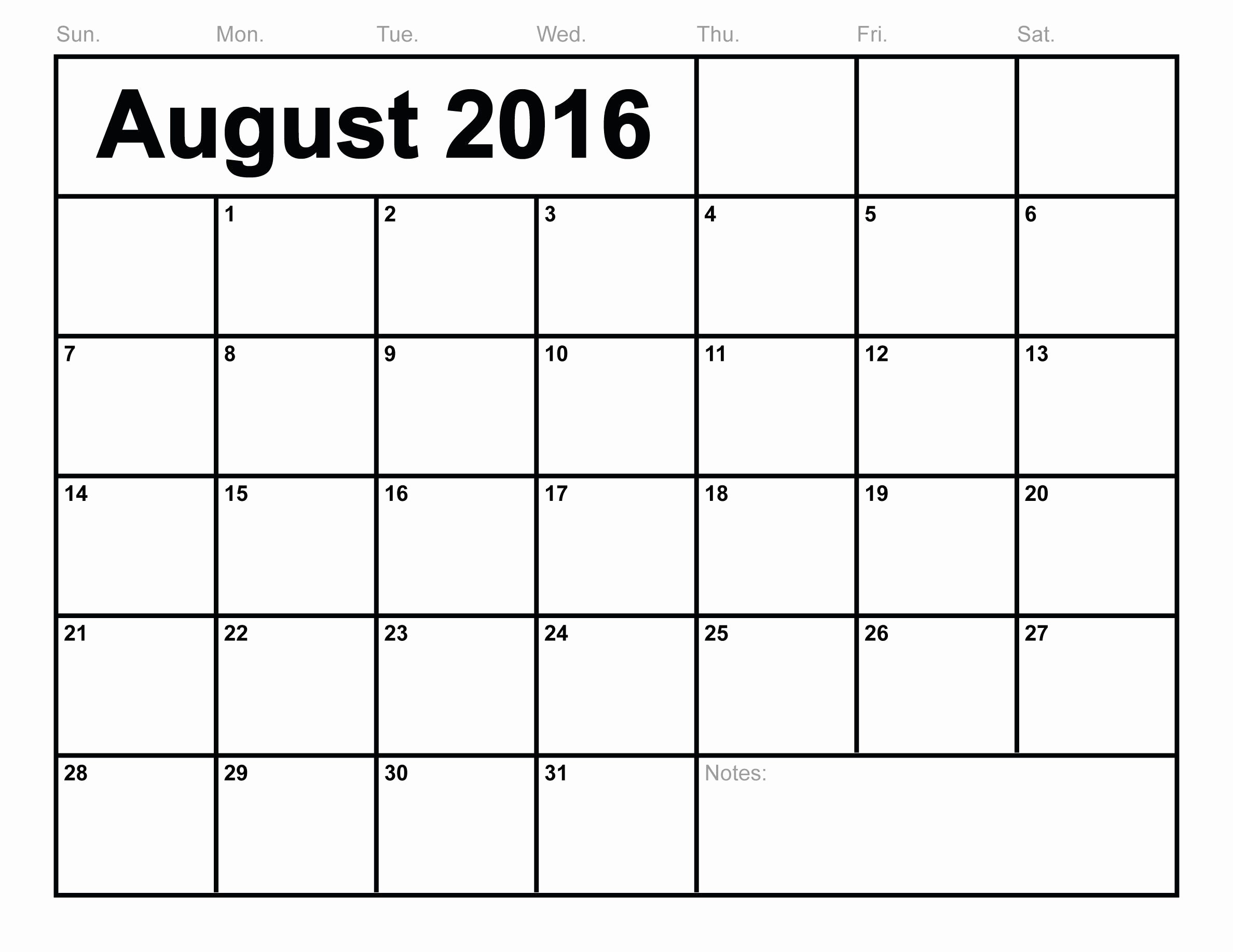 Free Printable Calendars 2016 Templates Elegant You Can August 2016 Calendar Template Printable