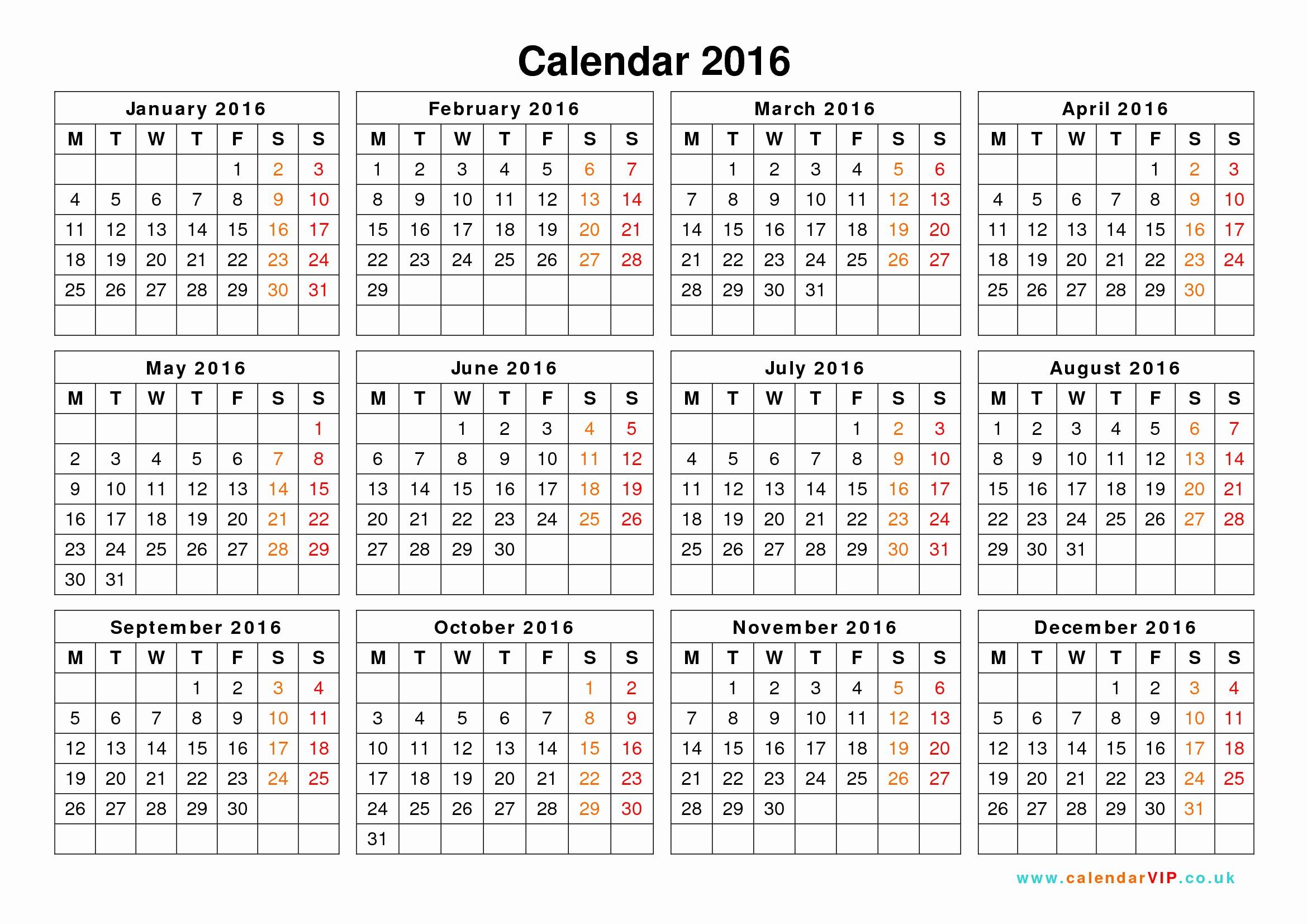 Free Printable Calendars 2016 Templates Luxury Calendar 2016 Uk Free Yearly Calendar Templates for Uk