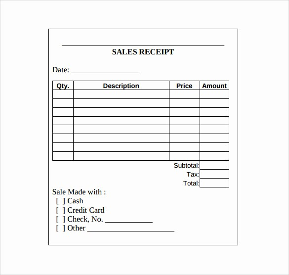 Free Printable Cash Receipt Template Awesome Sales Receipt Template 10 Download Free Documents In