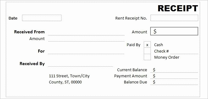 Free Printable Cash Receipt Template Beautiful Cash Receipt Template 7 Free Word Excel Documents