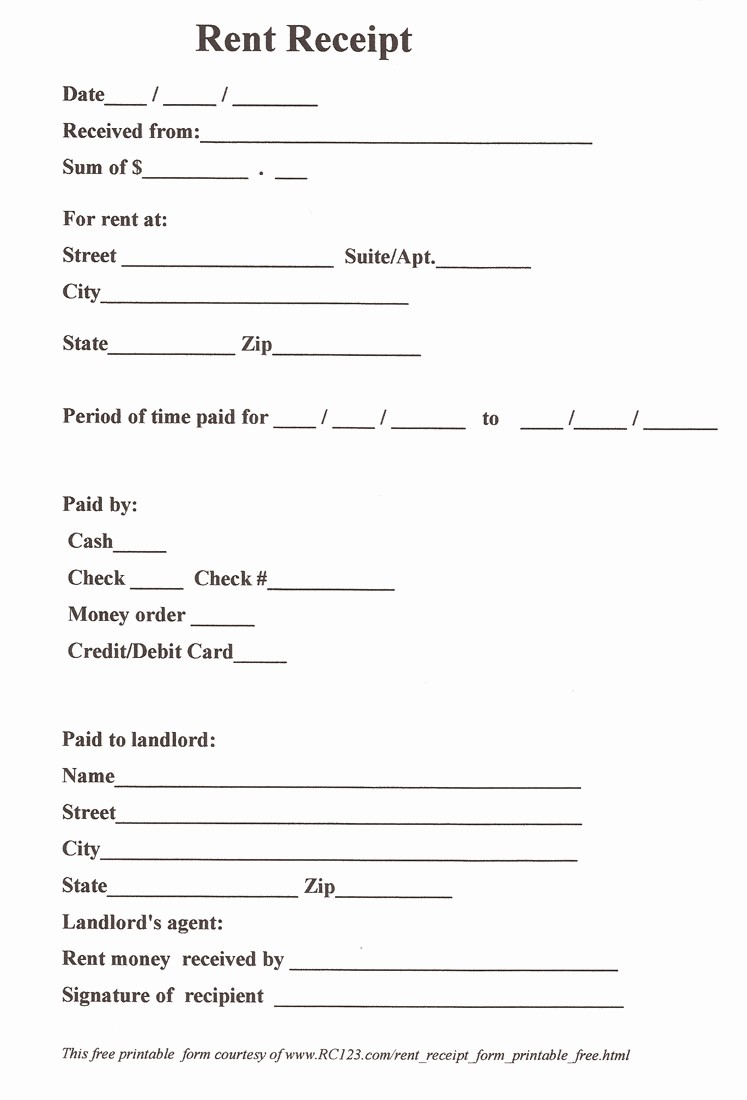 Free Printable Cash Receipt Template Best Of 11 Best Of Free Printable Payment Receipt form