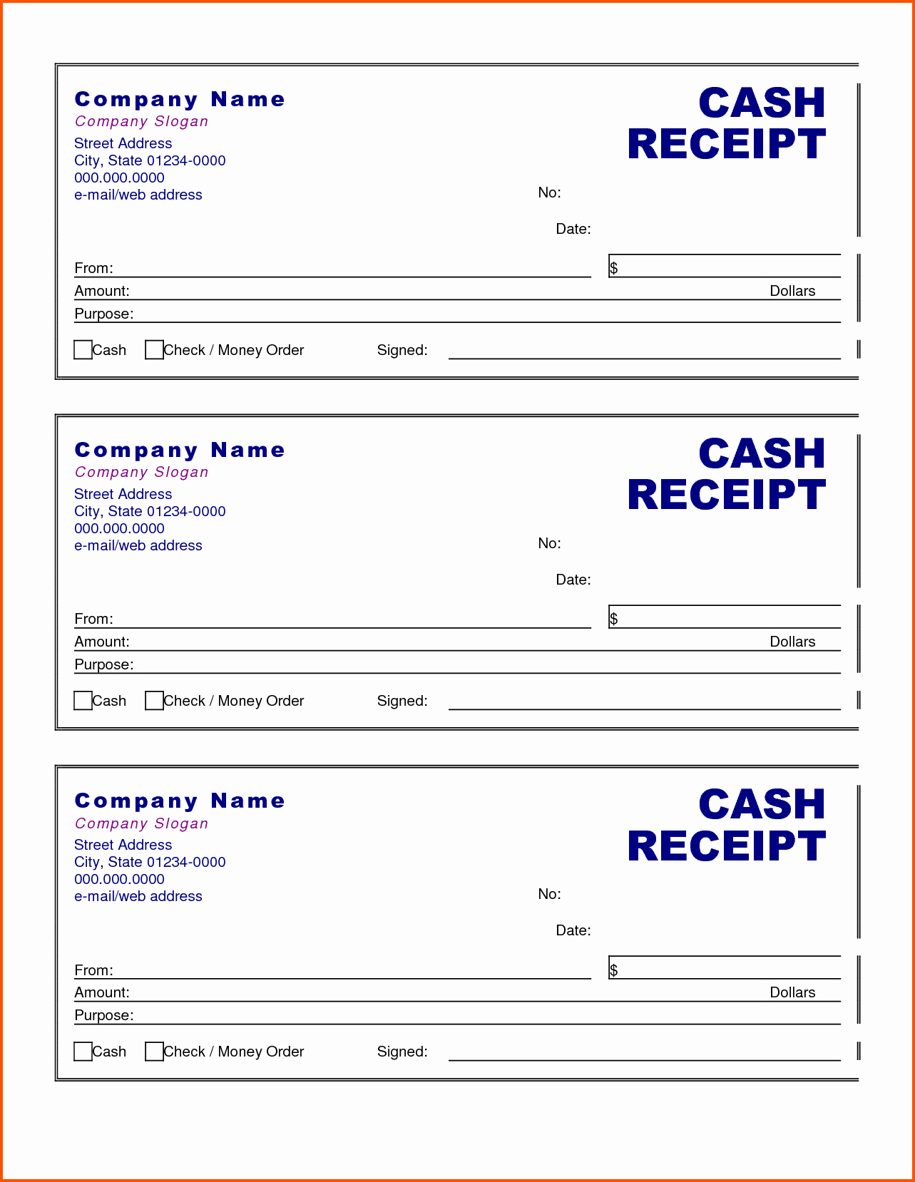 Free Printable Cash Receipt Template Best Of Cash Receipt Template Doc