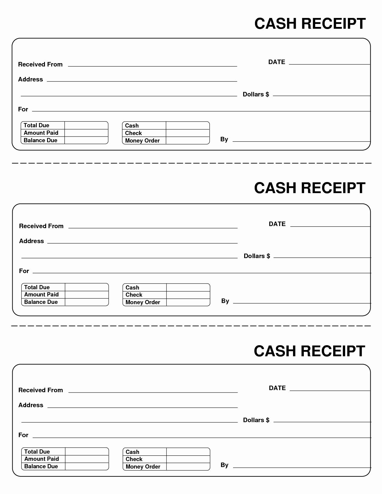 Free Printable Cash Receipt Template Best Of Free Printable Small Cash Receipt Template and form Sample
