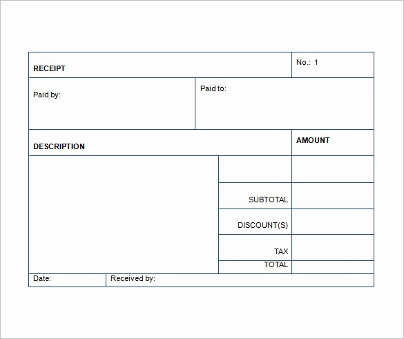 Free Printable Cash Receipt Template Best Of Sales Receipt Template 22 Free Word Excel Pdf format