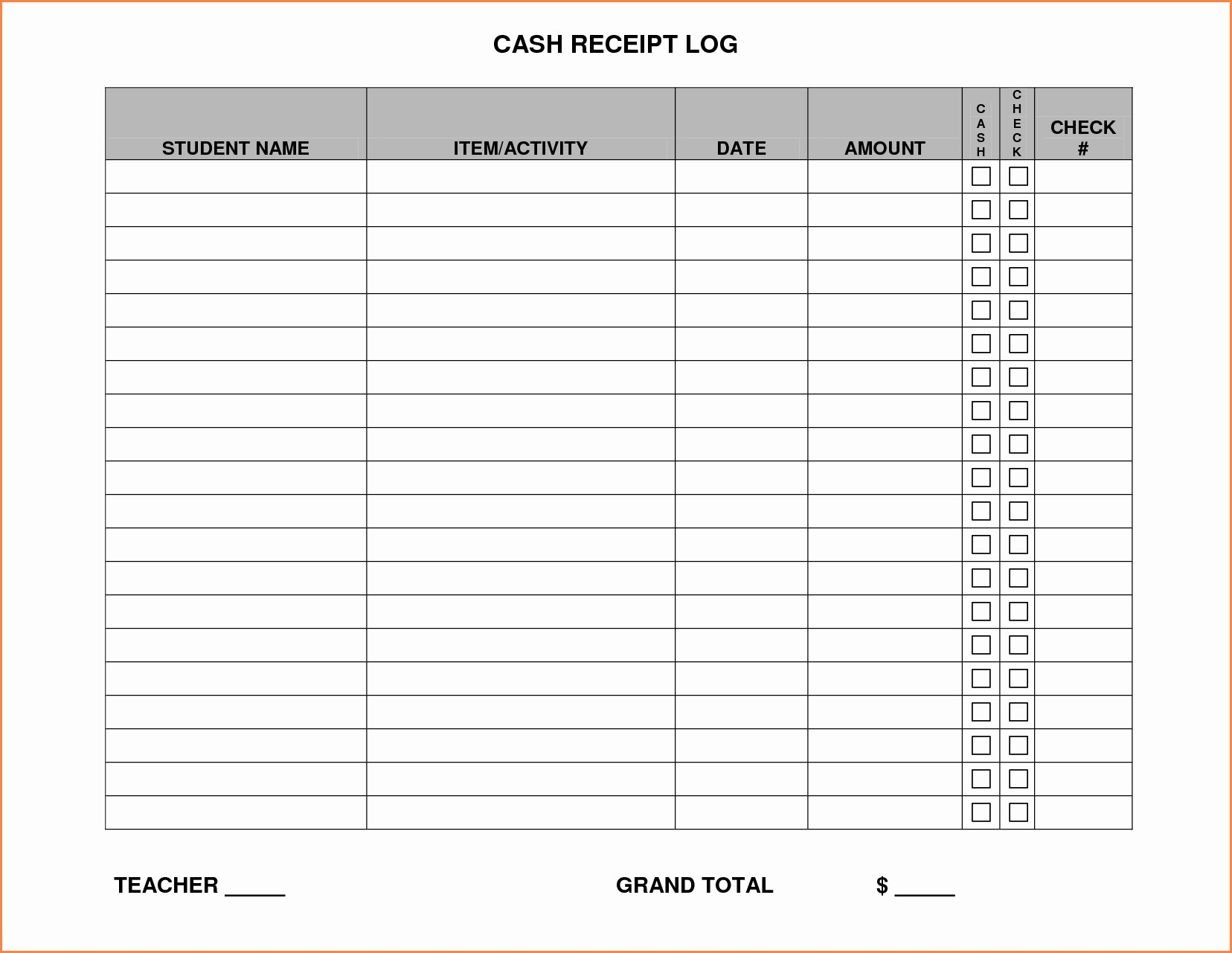Free Printable Cash Receipt Template Elegant Free Printable Receipt Templates Inspirational Printable