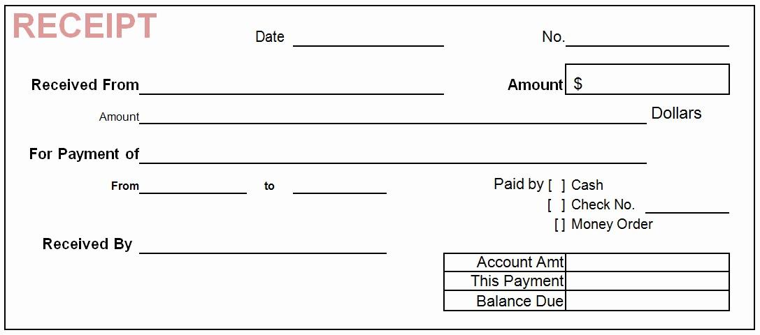 Free Printable Cash Receipt Template Fresh 18 Templates Free Cash Receipts Templates Word with format