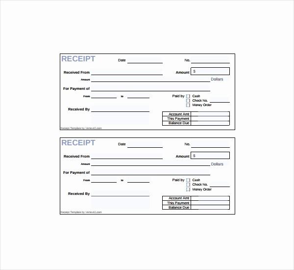 Free Printable Cash Receipt Template Fresh 20 Printable Cash Receipt Templates Pdf Word