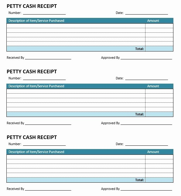 Free Printable Cash Receipt Template Inspirational 8 Free Sample Petty Cash Receipt Templates Printable Samples
