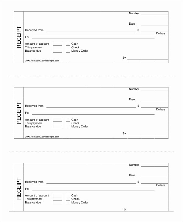Free Printable Cash Receipt Template Lovely Cash Receipt Template 8 Free Word Pdf Documents