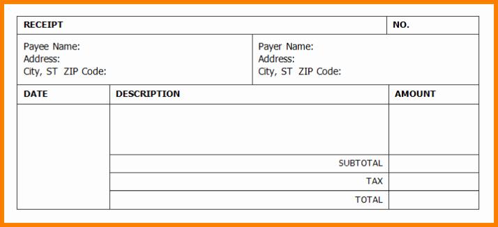 Free Printable Cash Receipt Template Luxury Receipt Template Word