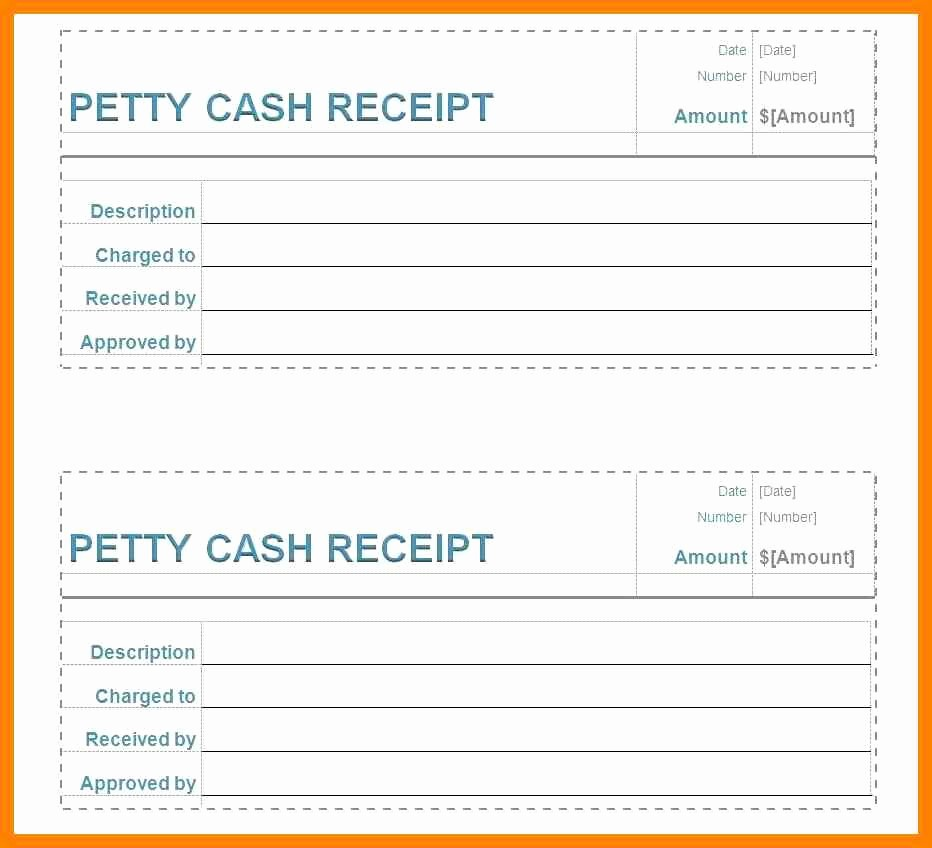 Free Printable Cash Receipt Template New 5 Free Printable Petty Cash Voucher