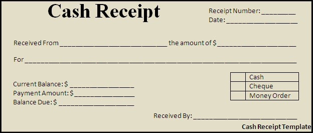 Free Printable Cash Receipt Template Unique Cash Receipt Template