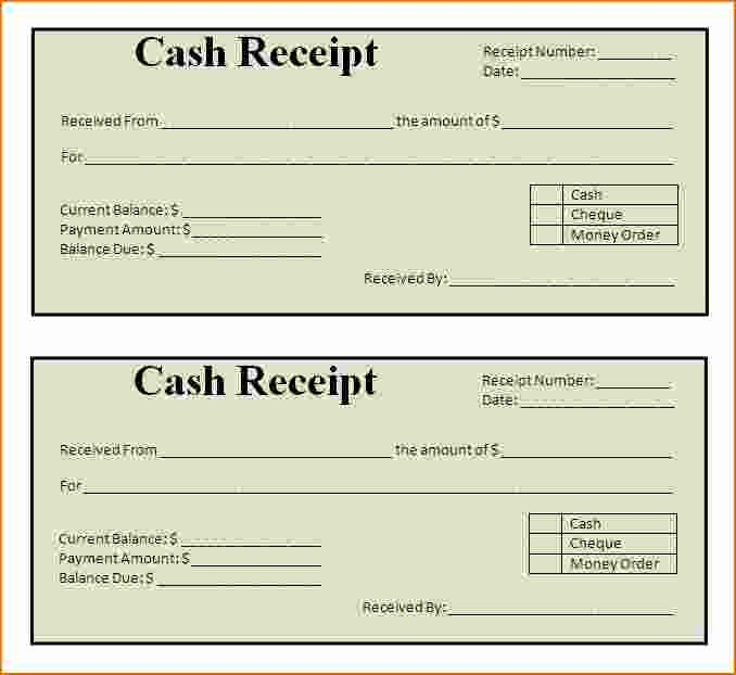 Free Printable Cash Receipt Template Unique Free Printable Cash Receipt Template