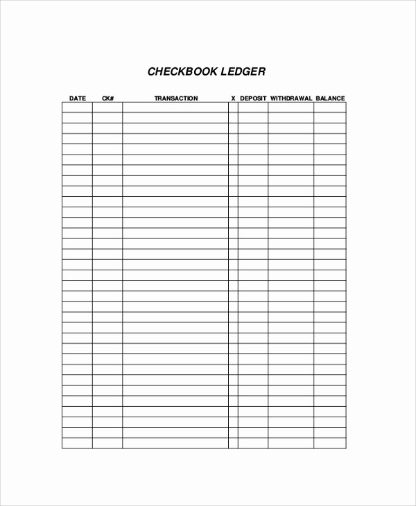 Free Printable Checkbook Register Template Elegant 9 Printable Check Register Samples