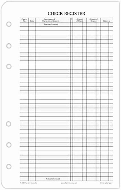 Free Printable Checkbook Register Template Inspirational 5 Best Of Free Printable Check Register Checkbook