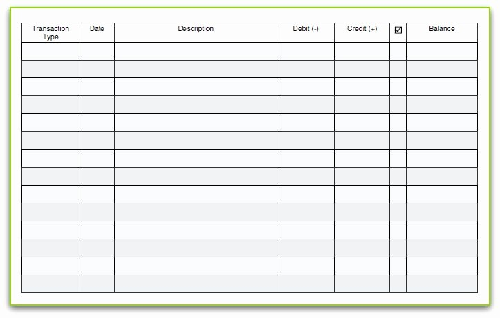 Free Printable Checkbook Register Template Inspirational Reader Requested Simple Checkbook Register [printable