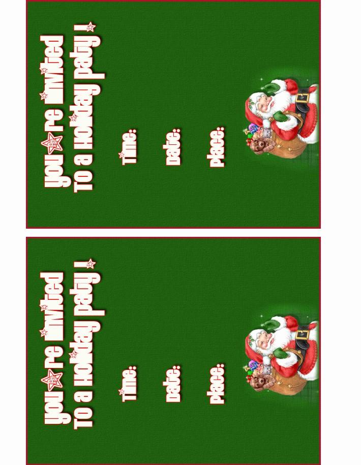 Free Printable Christmas Invitations Cards Best Of Free Holiday Party Invitations Free Christmas Invitations